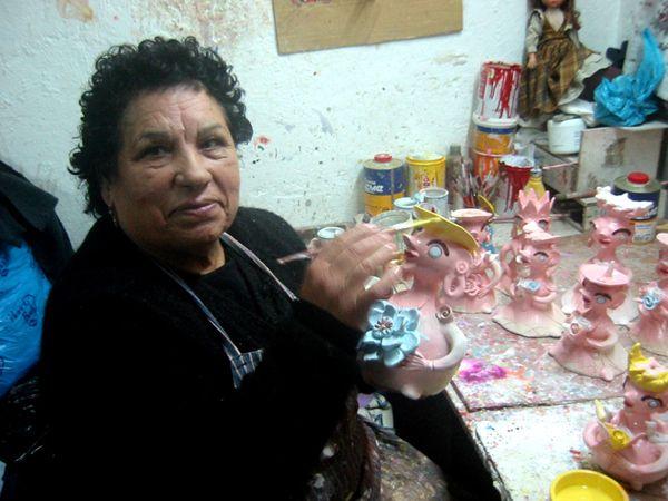 Júlia Côta no atelier