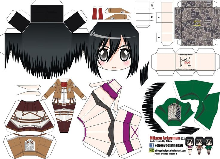 Mikasa Ackerman (Joey's Chibi Girls 022) by ELJOEYDESIGNS on DeviantArt