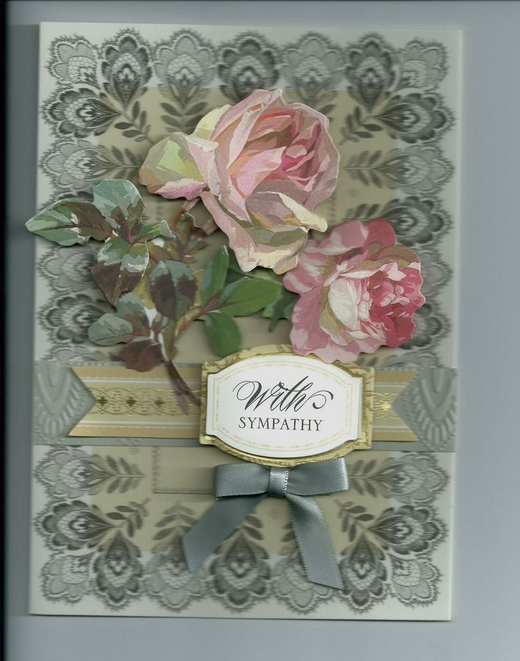 Sympathy Card Using Anna Griffin Supplies