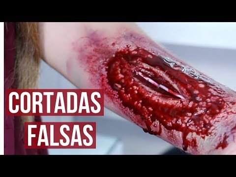 COMO HACER CORTADAS ⎟HERIDAS Y SANGRE FALSA PASO A PASO - YouTube