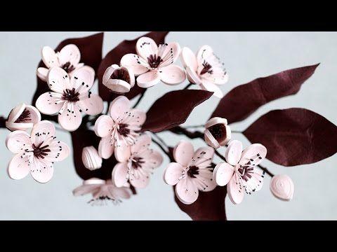Cherry Flower Quilling - Fleurs de cerisier en quilling                                                                                                                                                                                 Plus