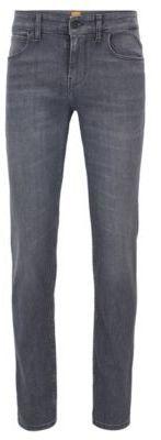 HUGO BOSS 12 oz Cotton Jeans, Slim Fit Orange 63 33/32 Charcoal