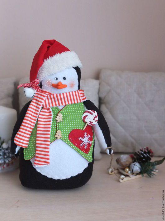 Новый год 2017 ручной работы. Пингвинята. Мастерская Подарок Каждому. Интернет-магазин Ярмарка Мастеров. Новогодний подарок, пингвинчик