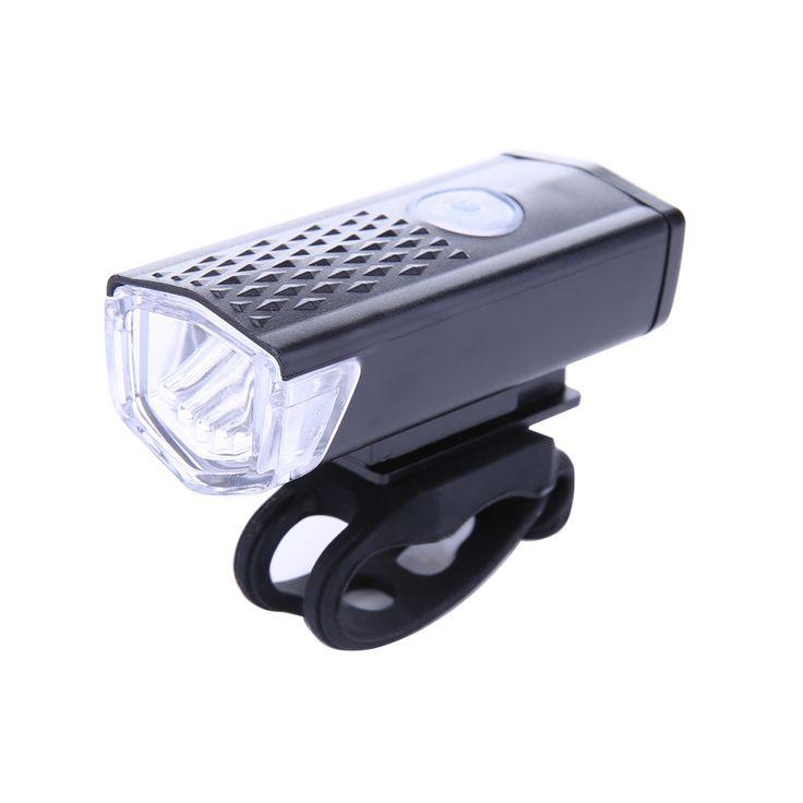 300LM Vélo Vélo LED Lampe USB Rechargeable Vélo Avant Lumière Étanche Haute Puissance Tête lampe de Poche Avertissement Éclairage 3 Modes