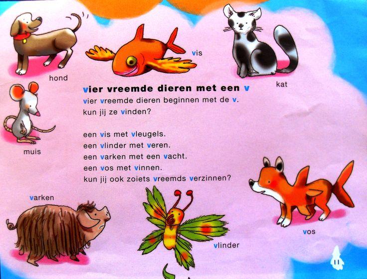 Een versje om te gebruiken bij het aanbieden de letter V. Leuk is het om daarna de kinderen zelf gekke dieren te laten verzinnen en tekenen.