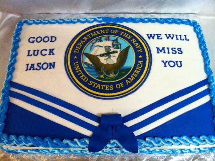 Navy Going Away Cake