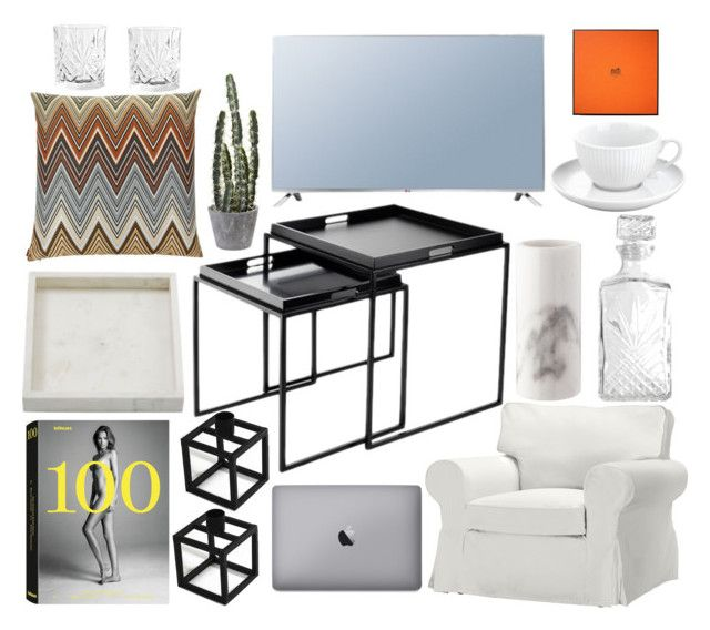 """Obsessed"" by fiejust on Polyvore featuring interior, interiors, interior design, home, home decor, interior decorating, Missoni, LG and Hermès"