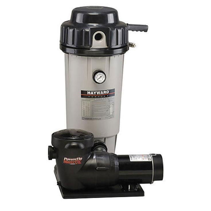 Hayward Ec50 Swimming Pool De Filter W 1 Hp Matrix Sp1592 Pump System Ec50c92s Pools And Pump