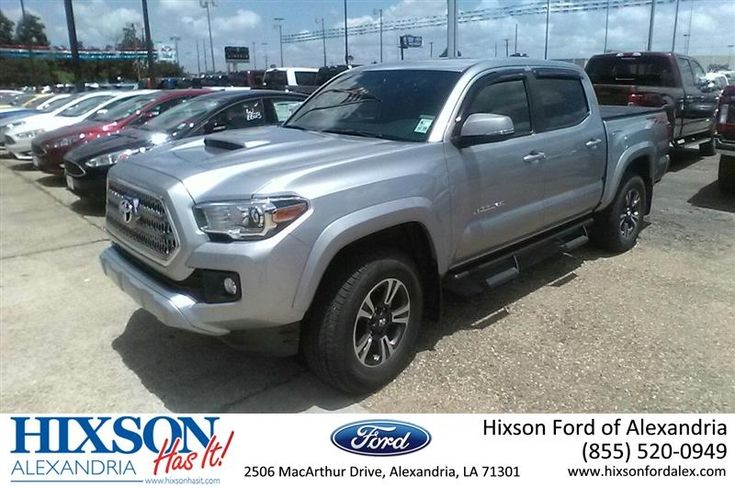 This is one fine truck! 2017 Toyota Tacoma 4x4, practically new at a preowned price. #Toyota #Tacoma #4x4 #TRD #HixsonAutoplex #Alexandria Call Joel Massey, 318-229-3282.  https://deliverymaxx.com/DealerReviews.aspx?DealerCode=UDRJ  #Hixson #Autoplex #Toyota #Tacoma #4x4 #HixsonFordofAlexandria