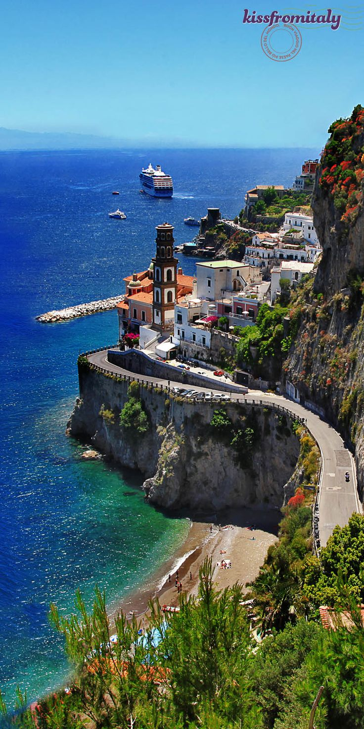 Amalfi Coast Scenic Road, Italy. #travel #tour #trip #vacation #holiday #adventure #place #destinations #outdoors