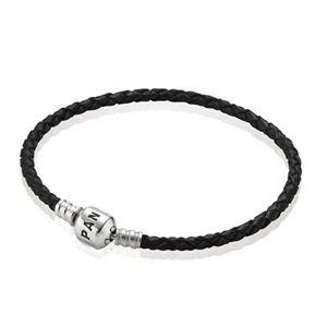 Pandora Single Black Leather Bracelet RCB053