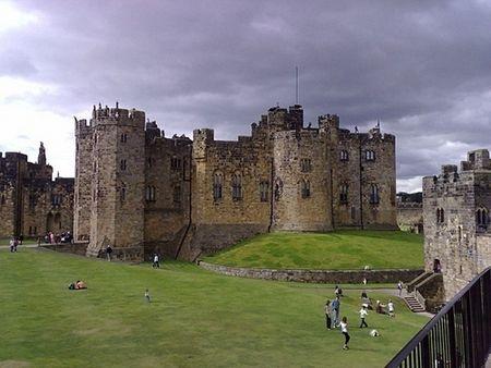 Alnwick Castle - Northumberland, England. The Harry Potter castle!