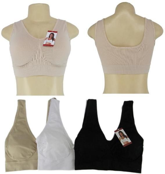 wholesaleWomen's Seamless Nude Sport Bra - Size Medium (Case of 6)