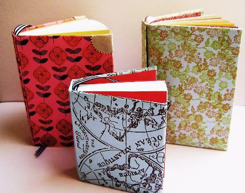 homemade journals: Books Covers, Make A Book, Minis Books, Notebooks Diy, Handmade Notebooks Ideas, Books Make, Diy Notebooks, Handmade Books, Handmade Journals