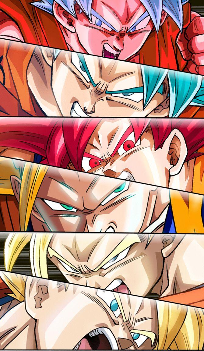 Esse é um verdadeiro herói. 'Transformações Super Sayajin Goku'