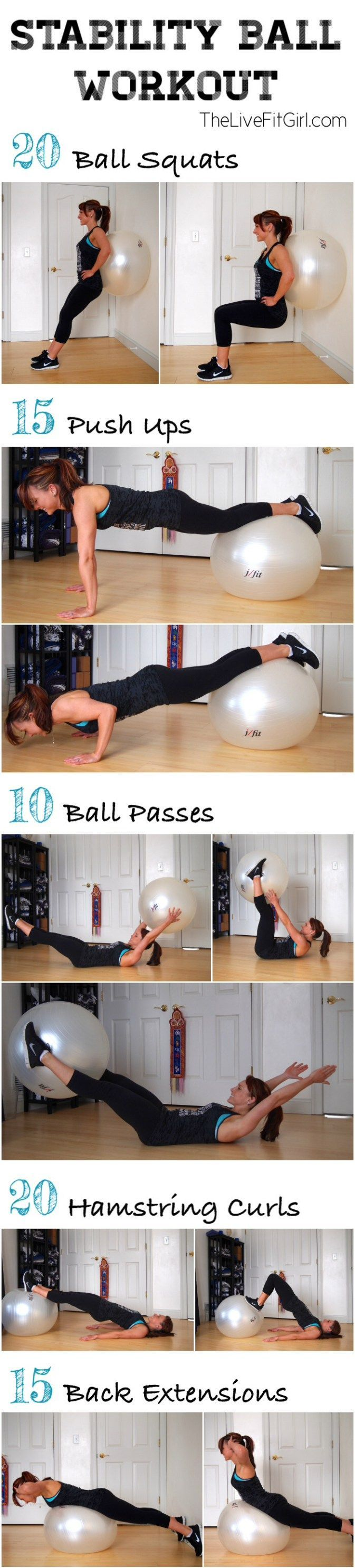 Stability Ball Workout • The Live Fit Girls