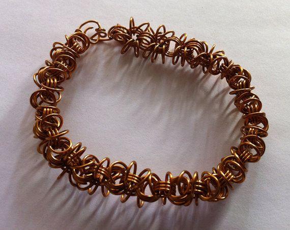 Bronze craft wire braceletwire loop bracelet by bonmokishop