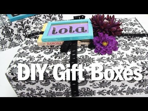 BROKE FOR THE HOLIDAYS, DIY Gift Boxes - YouTube