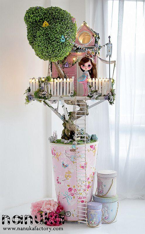 Increible casita del arbol hecha a mano por Nanuka. The treehouse version 3