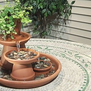Unique Homemade Fountain From Soil Pail Ideas , Gallery Of Awesome Ideas  For Homemade Water Fountains In Outdoor Category   Gardening Life