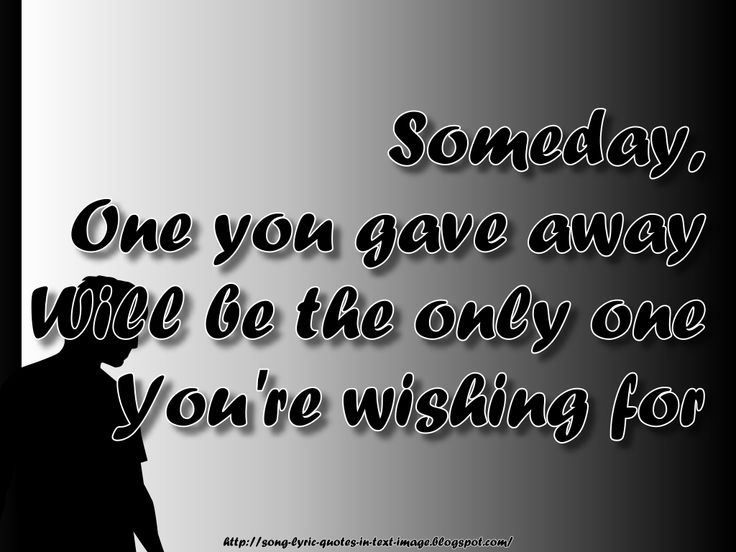 mariah carey quotes | Someday - Mariah Carey Song Lyric Quote in Text Image