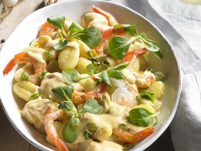 Cool Gnocchi mit Garnelen in Karotten Ingwer Sauce Wohnen Und GartenSaucen RezepteGarnelenKarottenIngwerGnocchiFotosPhotos