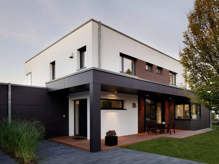 Kubus Haus - Doppelhaus Nilles - Baufritz • Jetzt bei Musterhaus.net informieren!