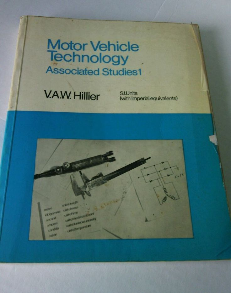 Motor Vehicle Technology Associated Studies 1 by V. A. Hillier (1974, Paperback) | eBay