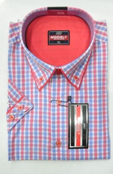 Koszula Męska Modely DH1A-B-CT  Kr. Rękaw (S-2XL)