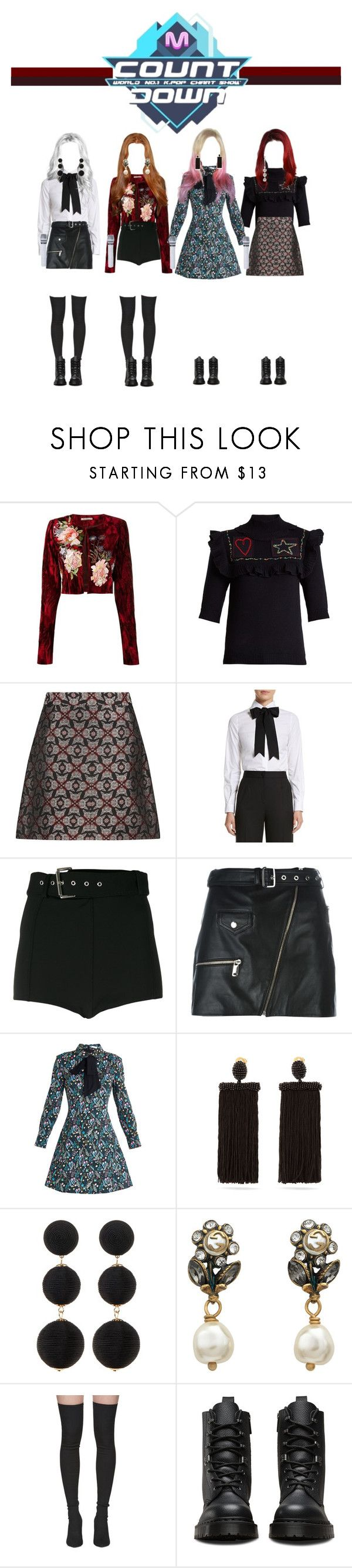 """""""[ M COUNTDOWN ]  Do You Wanna Play ?"""" by officialsrjh ❤ liked on Polyvore featuring Alice Archer, Valentino, Dolce&Gabbana, Versus, Manokhi, VIVETTA, Oscar de la Renta, Cara, Gucci and Yeezy by Kanye West"""