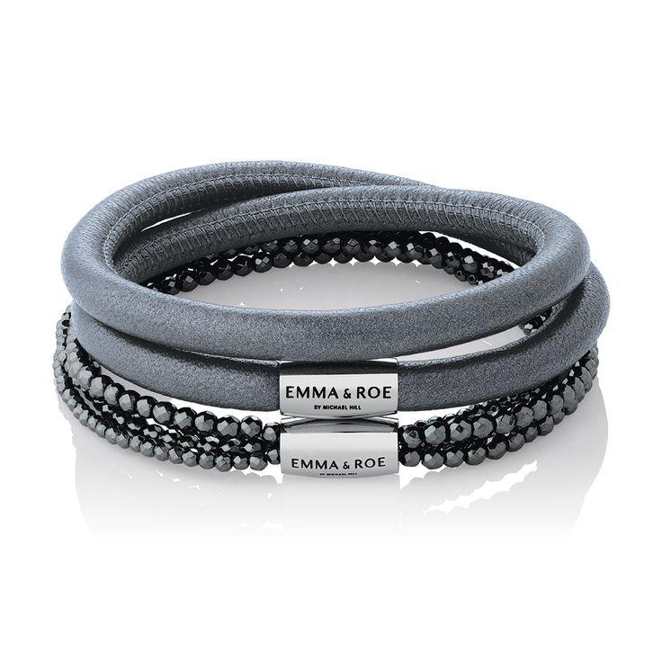 Wild Hearts leather & hematite bracelets. #emmaandroe #michaelhill. Available late November.