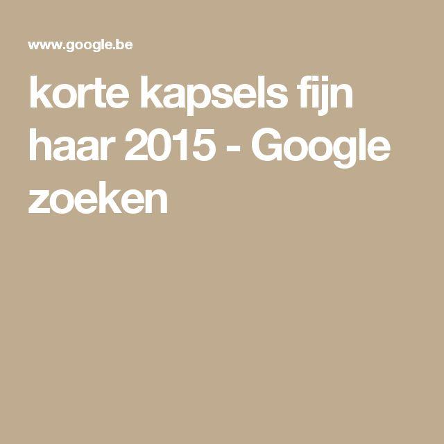 korte kapsels fijn haar 2015 - Google zoeken