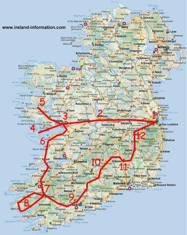 Ireland Tour. If you click on this link it opens up to a very nice tour with…