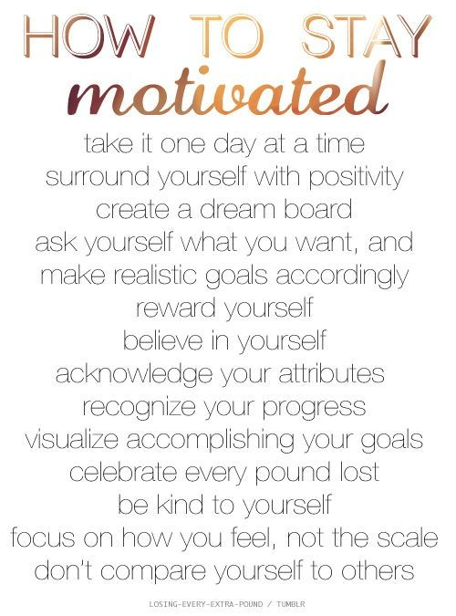 I feel like this is not only for fitness and excersise, this is for every goal you're trying to reach. And very helpfull tips!