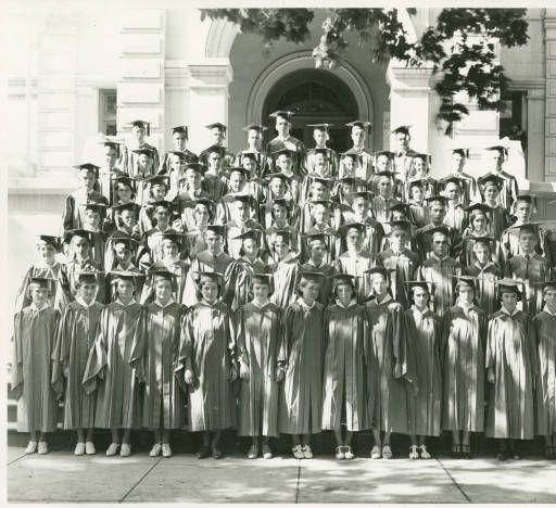 High school graduating class, Colfax, Washington, 1937 :: Whitman County Heritage