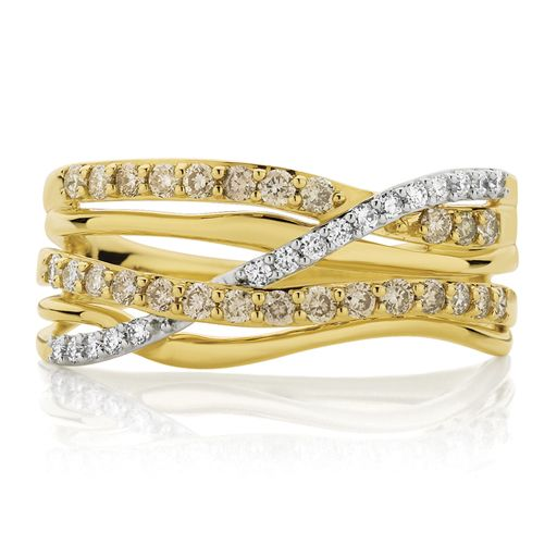 Dreamtime 9ct Yellow Gold 0.50ct Diamond Ring