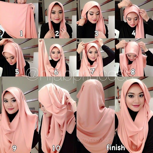 Beautiful Hijab Tutorial Coverage | HIJAB FASHION INSPIRATION