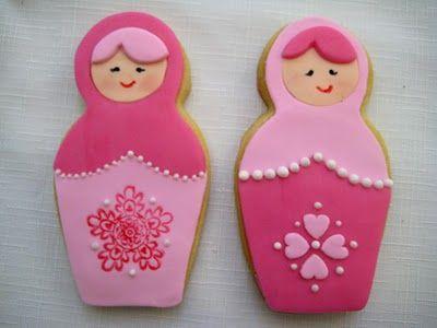 Babushka Cookie Tutorial: Sugar Cookies, Sweet, Russian Dolls, Dolls Cookies, Bubbles, Nests Dolls, Cookies Cutters, Matryoshka Dolls, Baby Cookies