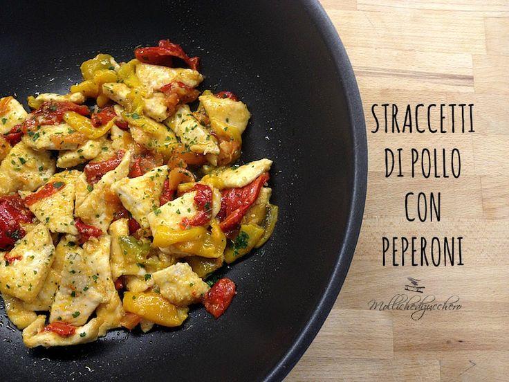 Gli straccetti di pollo con peperoni sono un secondo piatto estivo profumatissimo e veloce da realizzare :)