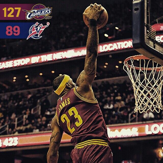 What a way to return from break! #Cavs move to fourth in the East with a statement win over the Wizards in DC.  Head to cavs.com for highlights, stats and more from #CavsWizards!