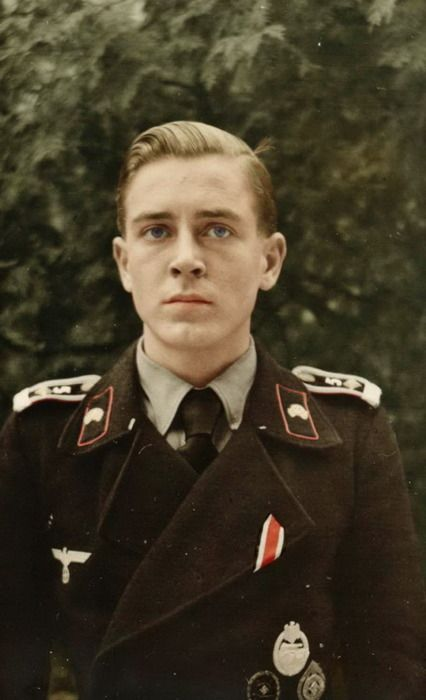 Black panzer uniform - This young man has seen too much