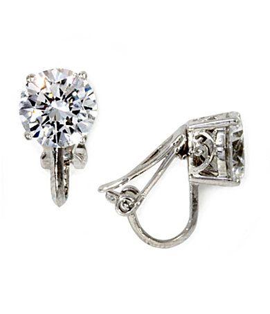Nadri cz  clip on earrings