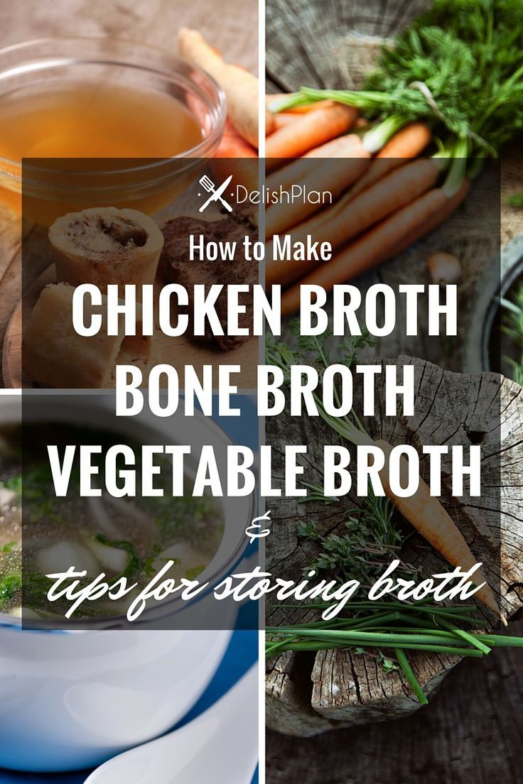 How to Make Chicken Broth, Bone Broth and Vegetable Broth & How to Store Homemade Broth (Recipes are included.)