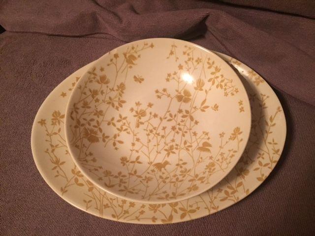 Sheffield Golden Meadow Large bowl & platter