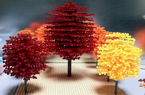 Beautiful LEGO Trees http://thebrickblogger.com/2012/09/how-to-make-lego-trees/