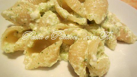 Conchiglie crema di zucchine e ricotta