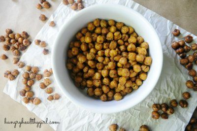 Honey Cinnamon Roasted Chickpeas by Hungry Healthy Girl