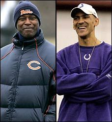 History in the making by Lovie Smith and Tony Dungy