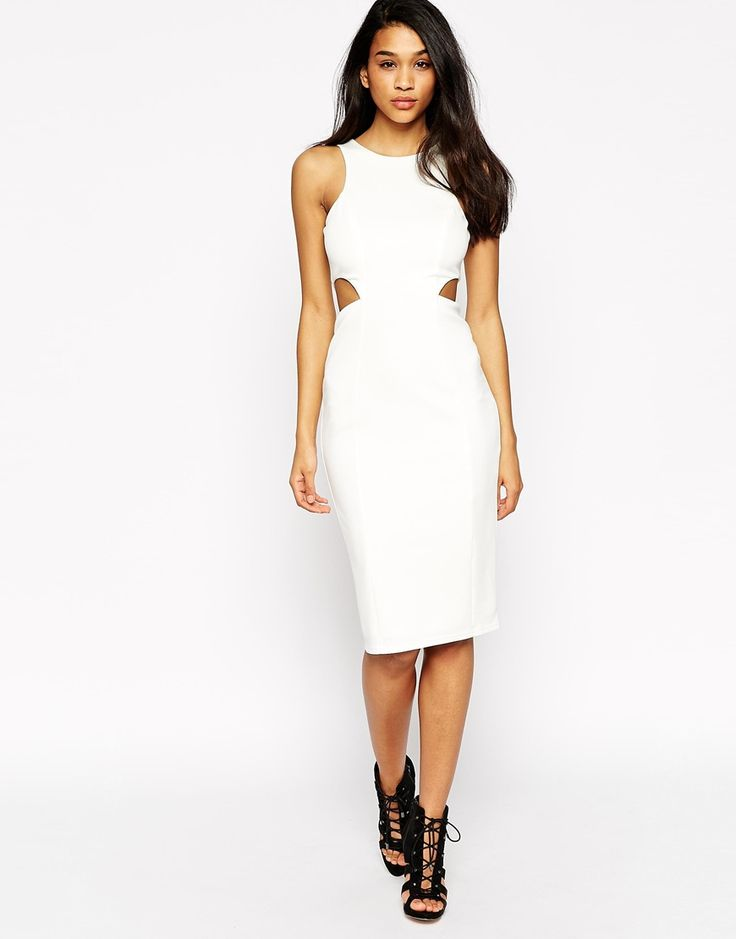 Image 1 of ASOS High Neck Cut Out Dress