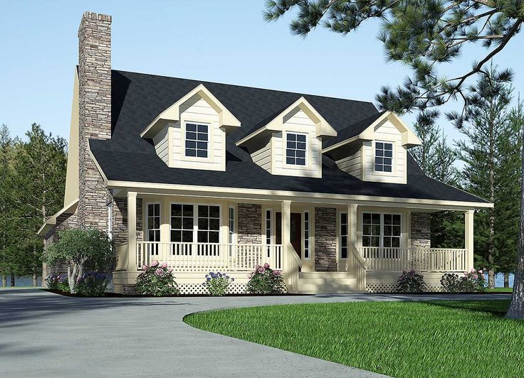 Refined Country Home Plan - 3087D | 1st Floor Master Suite, CAD Available, Cottage, Country, Loft, Narrow Lot, PDF | Architectural Designs